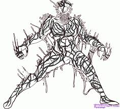 carnage spiderman drawing