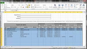 Construction Punch List Template Excel Excel 2010 Construction Punch List Part Iii Conditional