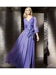 evening dresses for weddings purple sleeves chiffon prom evening formal dresses wedding