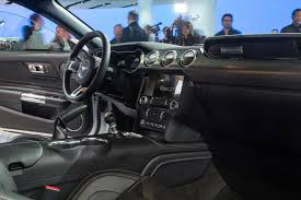 ford bronco 2018 interior 2018 ford mustang first look first refresh since ponycar went