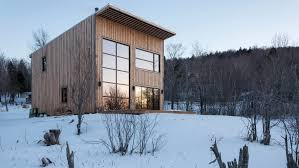 atelier l u0027abri designs canadian cabin for carpenter to build himself