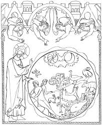 creation saint coloring pages roman catholic liturgical feasts