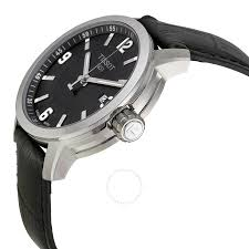 tissot watches leather bracelet images Tissot prc 200 quartz black dial black leather sport men 39 s watch jpg