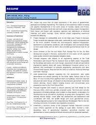 Resume Templates It Professional Professional Geotechnical Engineer Resume Template