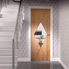 sassari oak flush door groove design u0026 clear glass safety glass