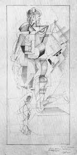 malevich cubist drawings sketches and illustrations pinterest