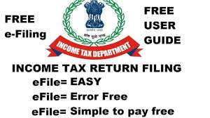 income tax efiling free user guide by income tax department