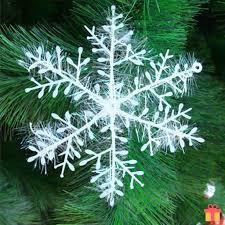 30pcs white snowflake ornaments home decor