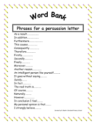 word bank letter of persuasion by danyaal teaching resources tes
