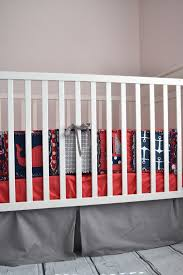 nautical boys crib bedding red navy gray u2013 a vision to remember