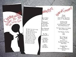 christmas wedding programs the nightmare before christmas wedding invitations yourweek