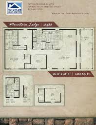 mountain lodge floor plans cornerstone collection mountain lodge 2848a 1280 sqft jpg 800 1 042
