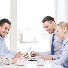 business team having meeting in office Alliance Solutions Group