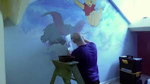 disney mural wall painting youtube