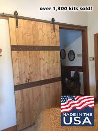 Hardware For Sliding Barn Doors Flat Track by Sliding Barn Door Hardware Kit With 9 Feet Flat Bar Track 108