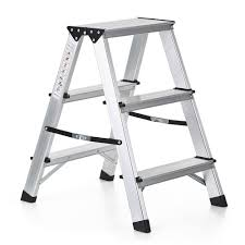 ikayaa folding 2 step ladder 330 pound capacity portable aluminum