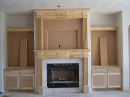 decorating fireplace surround ideas with modern block concrete