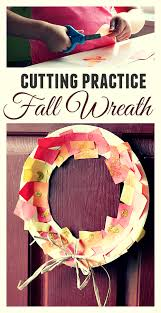 Thanksgiving Wreath Craft Cutting Practice Thanksgiving Wreath No Time For Flash Cards