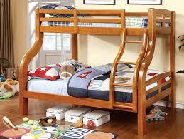 Furniture Of America Oak Curlie Twin Over Full Bunk Bed - Furniture of america bunk beds