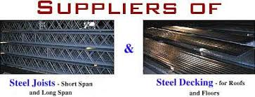 steel joist fabricator and decking supplier joists and decking