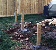 post hole excavation and post setting diy deck plans
