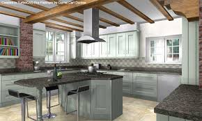 wilford painted kitchen designed and rendered by darrel carl