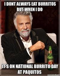 Burrito Meme - burrito day