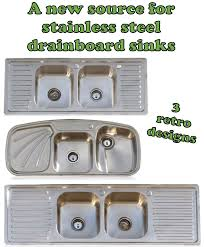 Small Kitchen Sinks Stainless Steel by Drainboard Kitchen Sinks In Stainless Steel Three Designs From