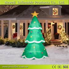 tree with snow machine lights decoration