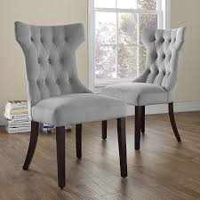 Tufted Dining Chair Set Dorel Living Clairborne Tufted Upholestered Dining Chair Set Of 2