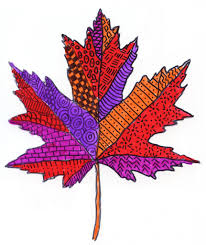 pattern leaves art projects for kids