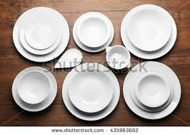 dishes set stock images royalty free images vectors