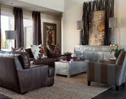 Area Rugs With Brown Leather Furniture Bamboo Sticks Trend Other Metro Contemporary Living Room