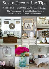 seven decorating tips from 7 decorating bloggers stonegable
