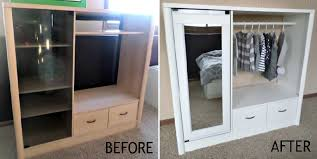 diy entertainment center to closet makeover home design garden