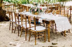 wedding table and chair rentals simple rustic table chair rentals event rentals miami