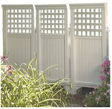 Privacy Screens For Patio by Amazon Com Made In Usa White Uv Resistant 4 Panel Resin Outdoor