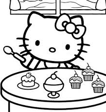 6 images of hello kitty and mimi coloring pages ester hello