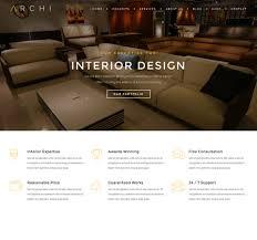 Award Winning Interior Design Websites by Archi Interior Design Website Template