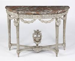 Painted Console Table A Louis Xvi Grey Painted Console Attributed To George Jacob Le