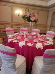 pink chair covers pink weddings my favorite opulence floral design event decor