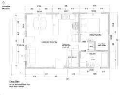 Cottage Floor Plan by Floorplan 20x30 1 5 Story Cabin Interior Details Pinterest