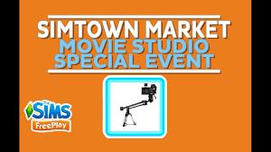 the sims freeplay halloween update simtown market movie studio
