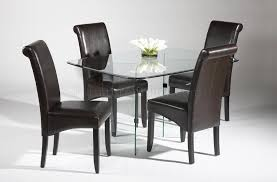 sophisticated black faux leather dining room chairs good igf usa