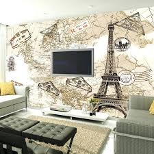 map wallpaper home customized photo wallpaper retro nostalgia old