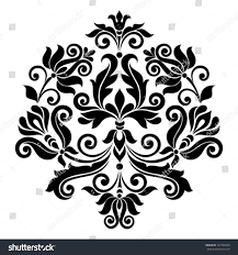 vector ornamental floral element vintage style stock vector