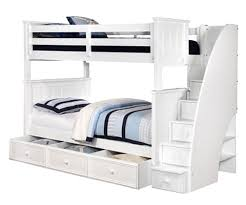 Bunk Bed With Stairs And Trundle Twin Twin Jordan Bunk Bed Rooms4kids