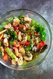 pesto shrimp tomato salad recipe primavera kitchen