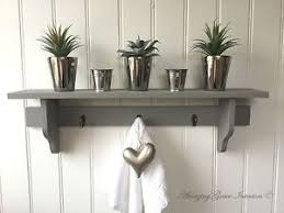 Shabby Chic Wall Shelves by Shabby Chic Grey Wall Shelf Unit Storage Cupboard Kitchen Bathroom