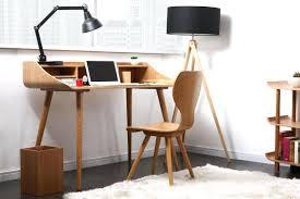 bureau vintage scandinave bureau bois clair scandinave design en convertible table bale 1